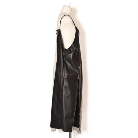 SHIROMA / Vegan Leather Camisole Dress