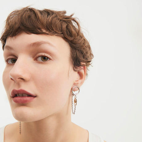 JUSTINE CLENQUET / Rue clip-on earrings / Mix