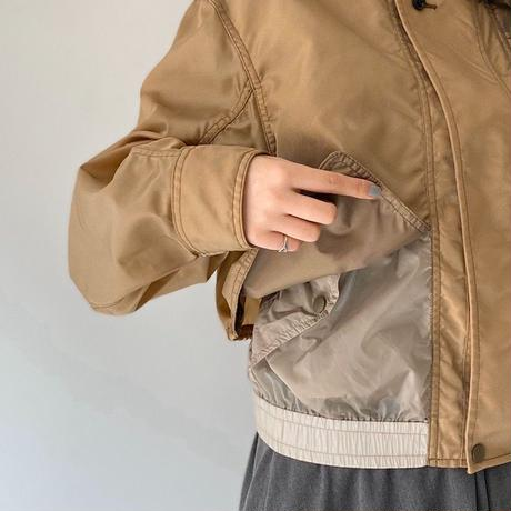 TOGA PULLA / Nylon Ox Blouson / BROWN