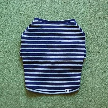 バスクボーダーシャツ(ネイビー×グレー)