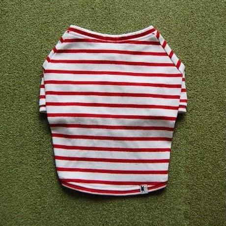 バスクボーダーシャツ(ホワイト×レッド)
