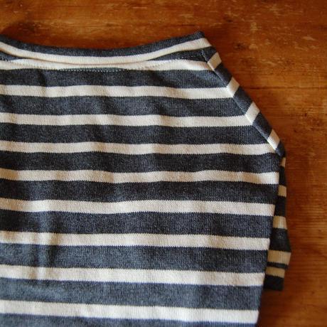 バスクボーダーシャツ(杢グレー×オフホワイト)