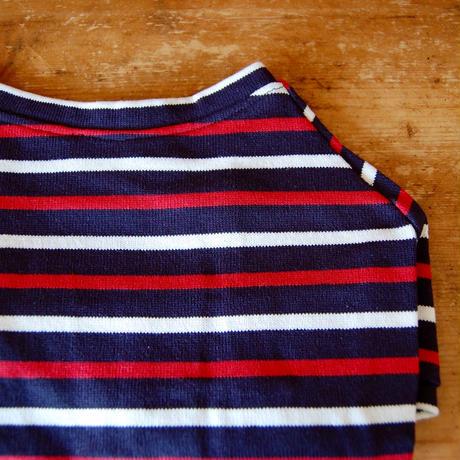 マルチボーダーシャツ(ネイビー×ホワイトレッド)