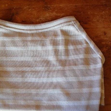 バスクボーダーシャツ(ベージュ×オフホワイト)
