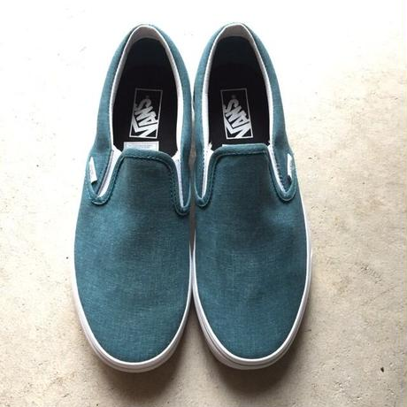 """[VANS] """"Classic Slip-On"""" Washed -Shaded Spruce/blue- (¥8,000-+tax)"""
