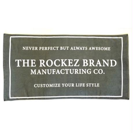 "[ THE ROCKEZ ] ""BEACH TOWEL""  -DARK CHARCOAL- (¥5,000-+tax)"