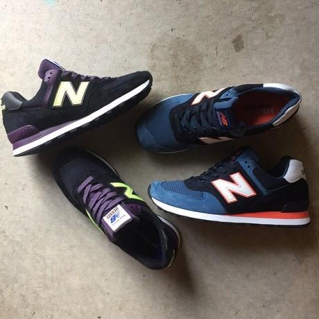"""[NewBalance] Connoisseur Painters """"US574BL"""" Made in USA -blue×orange×white- (¥25,000-+tax)"""