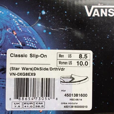 "[VANS] ""Classic Slip-On"" Star Wars -DkSide Strmcmo- (8,000-+tax)"