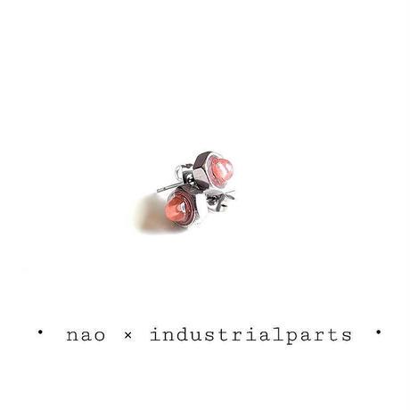 ナットピアス-チェリークォーツ
