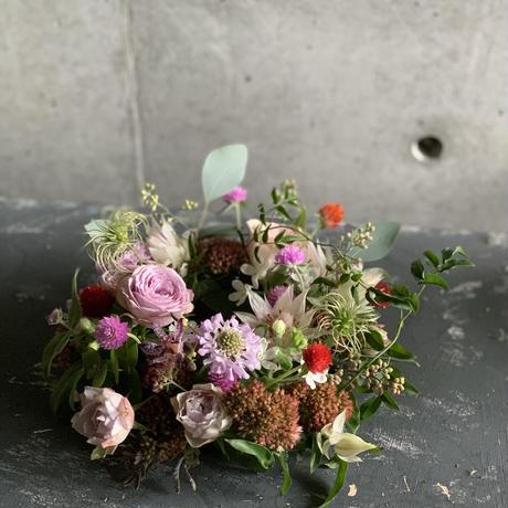 2021母の日♡生花フラワーリース Lサイズ