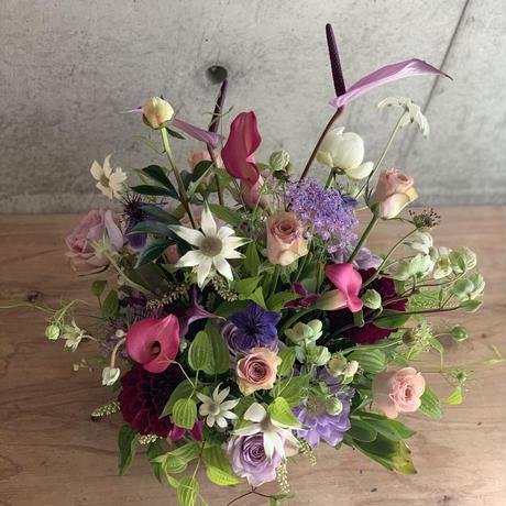 2021母の日♡生花フラワーアレンジメント(オールラウンドスタイル)