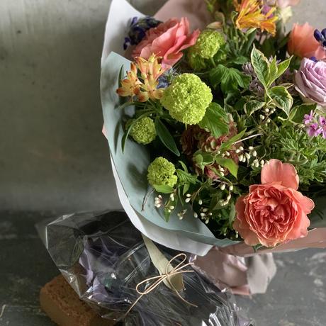 2021母の日♡送料込み*生花 オーダー花束と花瓶のスペシャルセット