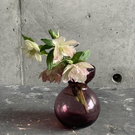 ぽってりスタイルが可愛い花器(ボルドー)