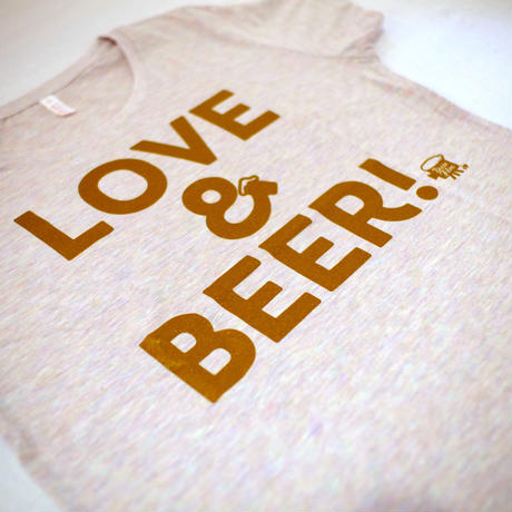 【Woman】LOVE&BEER! Tee オーロラヘザー