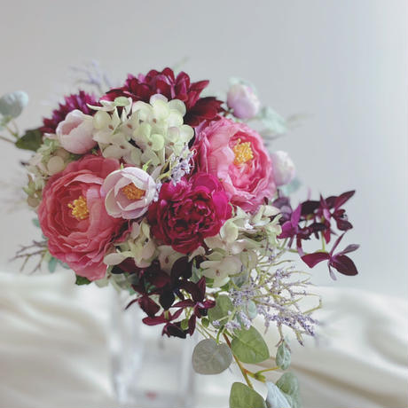 Bouquet&Boutonniere ダリア オーバル型(ローズ系)