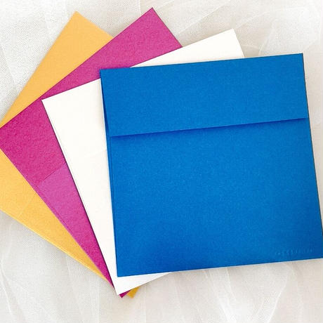 Greeting card 手書きのカリグラフー 出産祝いカード (封筒4色)