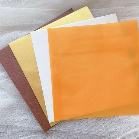 Greeting card 手書きのカリグラフー2021年ハロウィンカード (封筒4色)