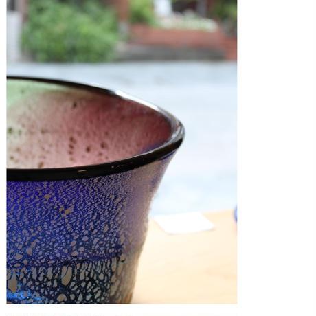 オリジナル 沖縄 琉球ガラス 稲嶺盛吉氏 土紋ワインクーラー宙吹きガラス工房虹