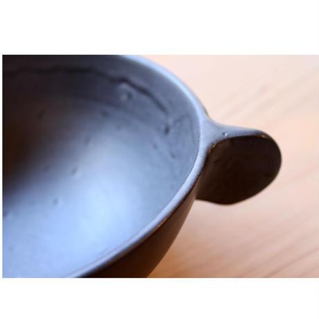 大嶺實清 大嶺工房 黒釉 スープカップ 大 耳付き やちむん 沖縄