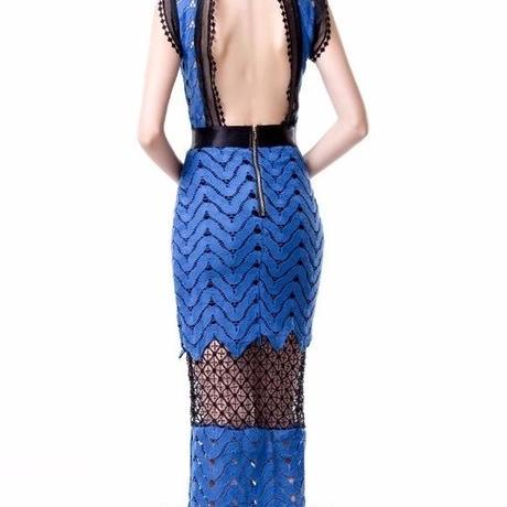 背中セクシーレースタイトドレス