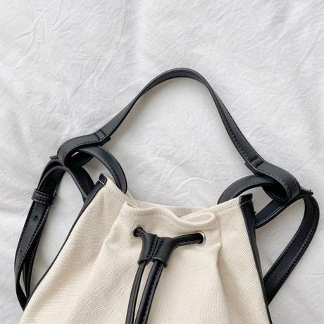 ショルダー巾着バッグ