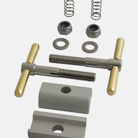 Hinge Clamp Set, Titanium