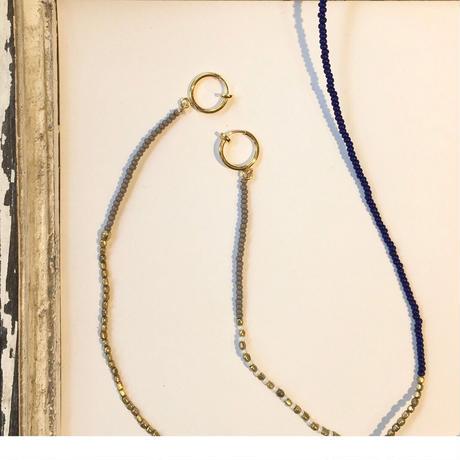 ビーズマスクストラップ ゴールド×ブルー(BCBP0295)