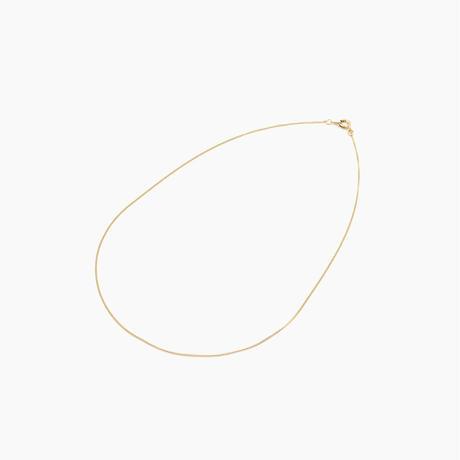 カーブチェーンネックレス1 ゴールド 40cm(BCCN0038)