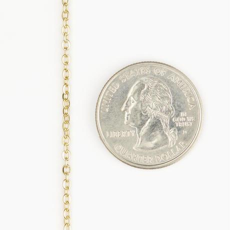 ケーブルチェーンブレスレット3 ゴールド 16cm(BCCN0027)