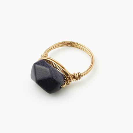 天然石ワイヤーリング サンドストーン(BCST0120R)