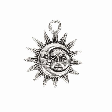 チャーム 太陽と月L 20mm SILVER(BCCH0735)