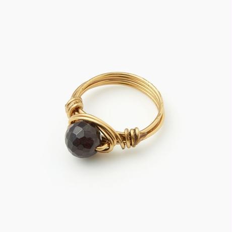 【Birth Stone Color Collection 1月誕生石】ガーネットワイヤーリング(BCST0293R)