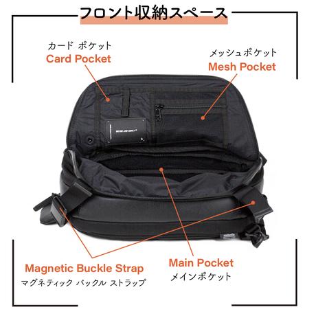 【makuake支援額2,000万円超えプロジェクト】Adjust sling multi bag + ミニポーチ