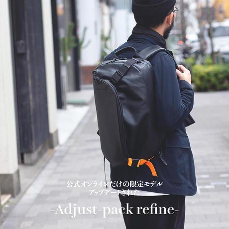 """""""公式ショップ限定""""拡張型リュック Adjust-pack refine / BLK×ORG"""