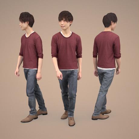 3D人物素材  [Posed]  037_Toru