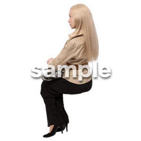 Cutout People 座る 外国人 KK_569