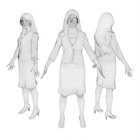 3D人モデルAポーズ 056_Mao