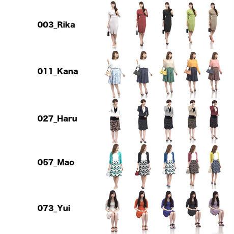 3D人物素材-ポーズド  5個セット 006_Posed-set