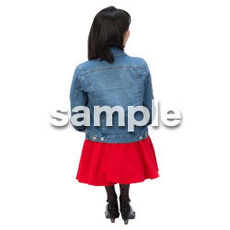 Cutout People 日本人-女性-座る BB_500