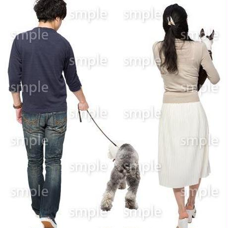 Cutout People 犬の散歩 II_480