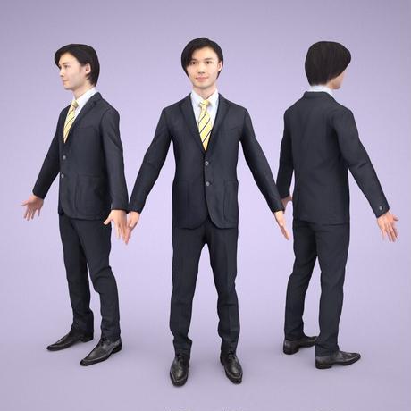 3D人モデルAポーズ 064_Syun