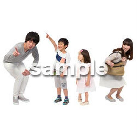 Cutout People 4人ファミリー GG_477