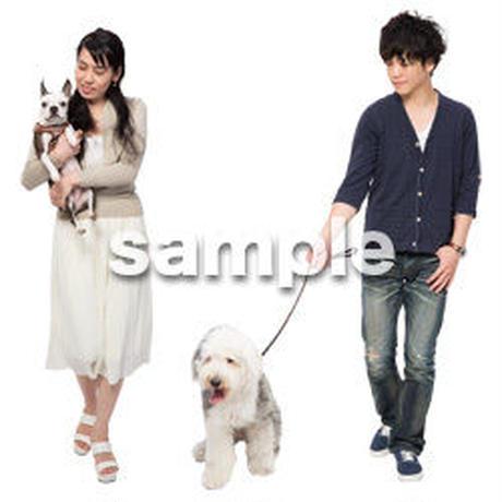 Cutout People 犬の散歩 II_476