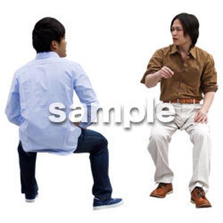 人物切抜き素材 座る人Ⅱ編 Q_071