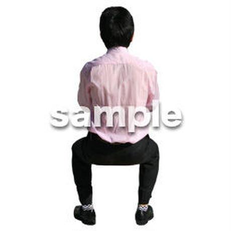 人物切抜き素材 座る人編 H_212