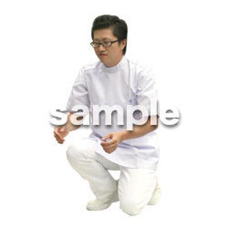 人物切抜き素材 医療・シニア車椅子編 D_025