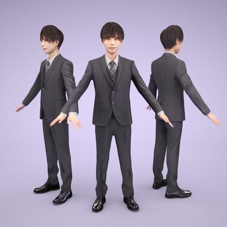 3D人モデルAポーズ 032_Toru