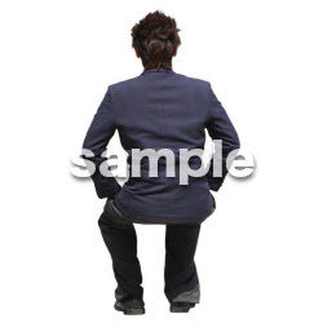 人物切抜き素材 座る人編 H_580