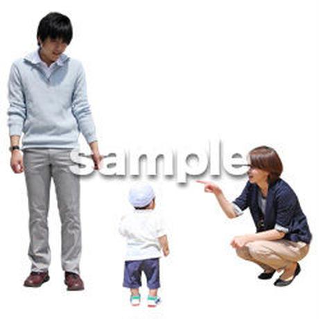 人物切抜き素材 ショッピングモール護編 T_083