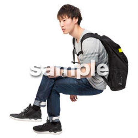 Cutout People 座る 男性 LL_488